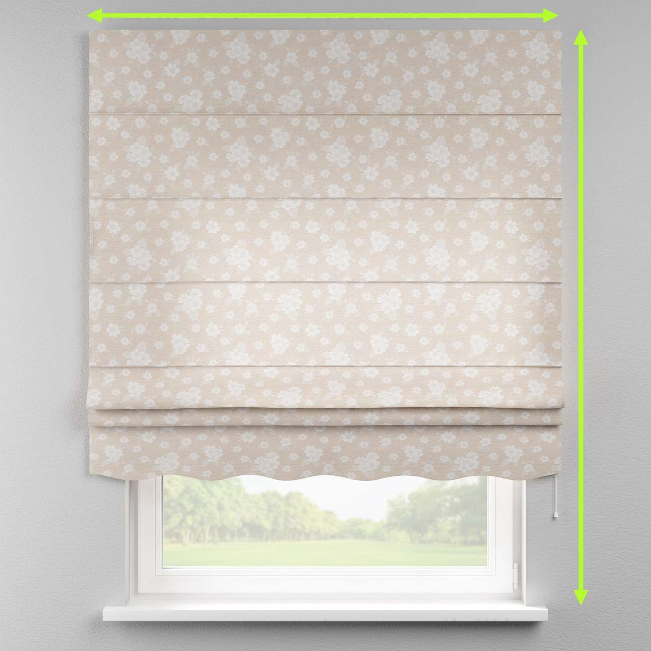 Florence roman blind  in collection Rustica, fabric: 138-26