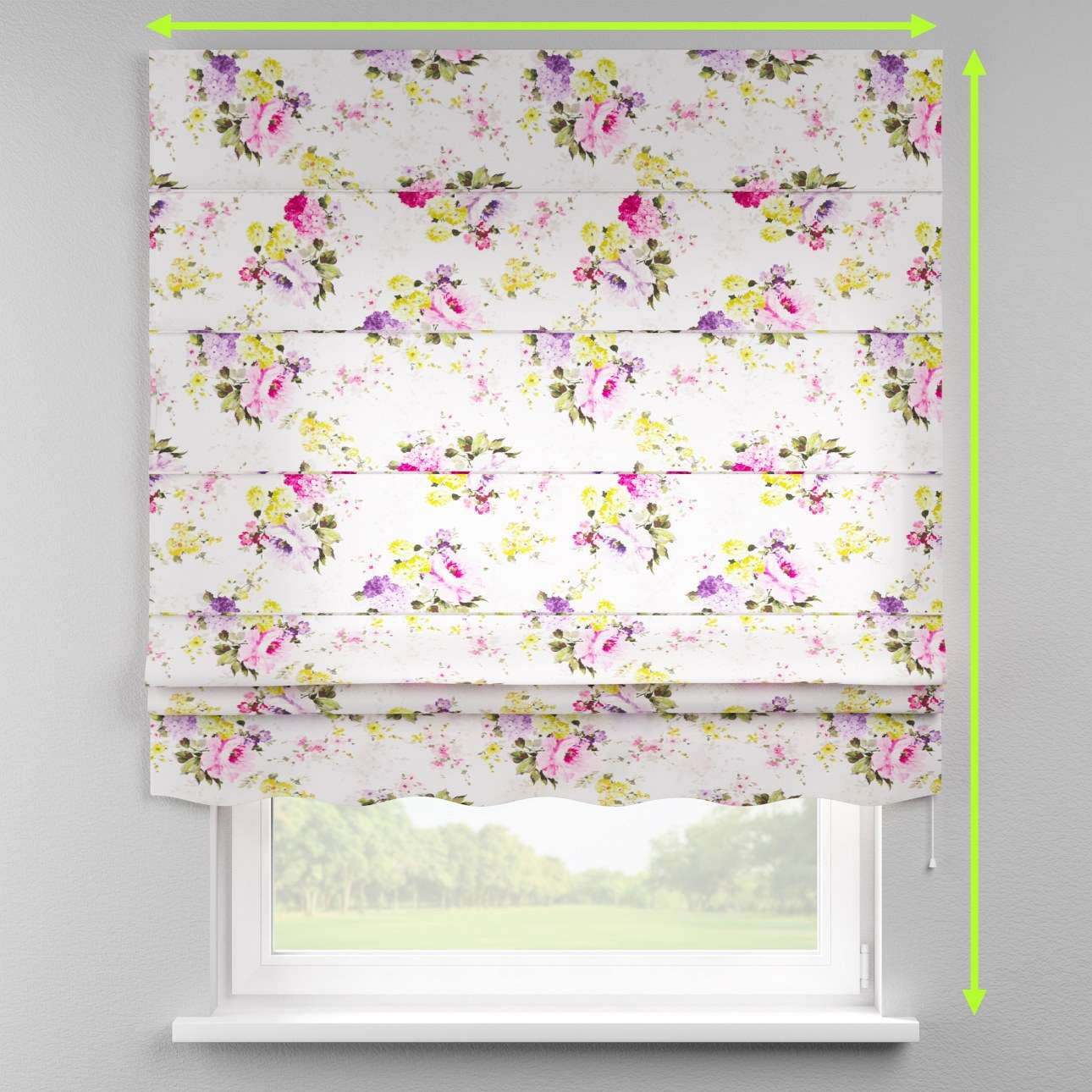 Florence roman blind  in collection Monet, fabric: 140-00
