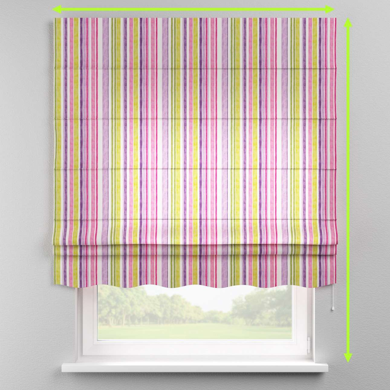 Florence roman blind  in collection Monet, fabric: 140-01