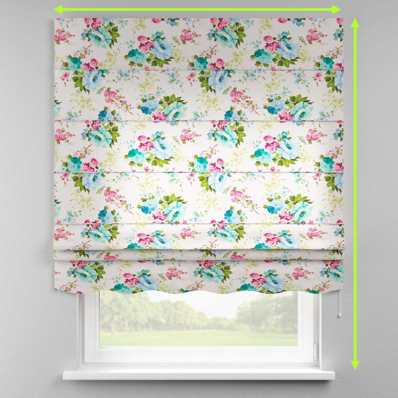Florence roman blind  in collection Monet, fabric: 140-02