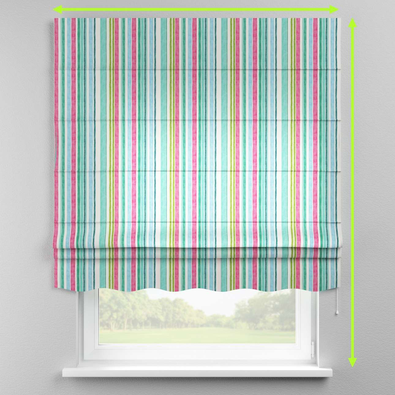 Florence roman blind  in collection Monet, fabric: 140-03