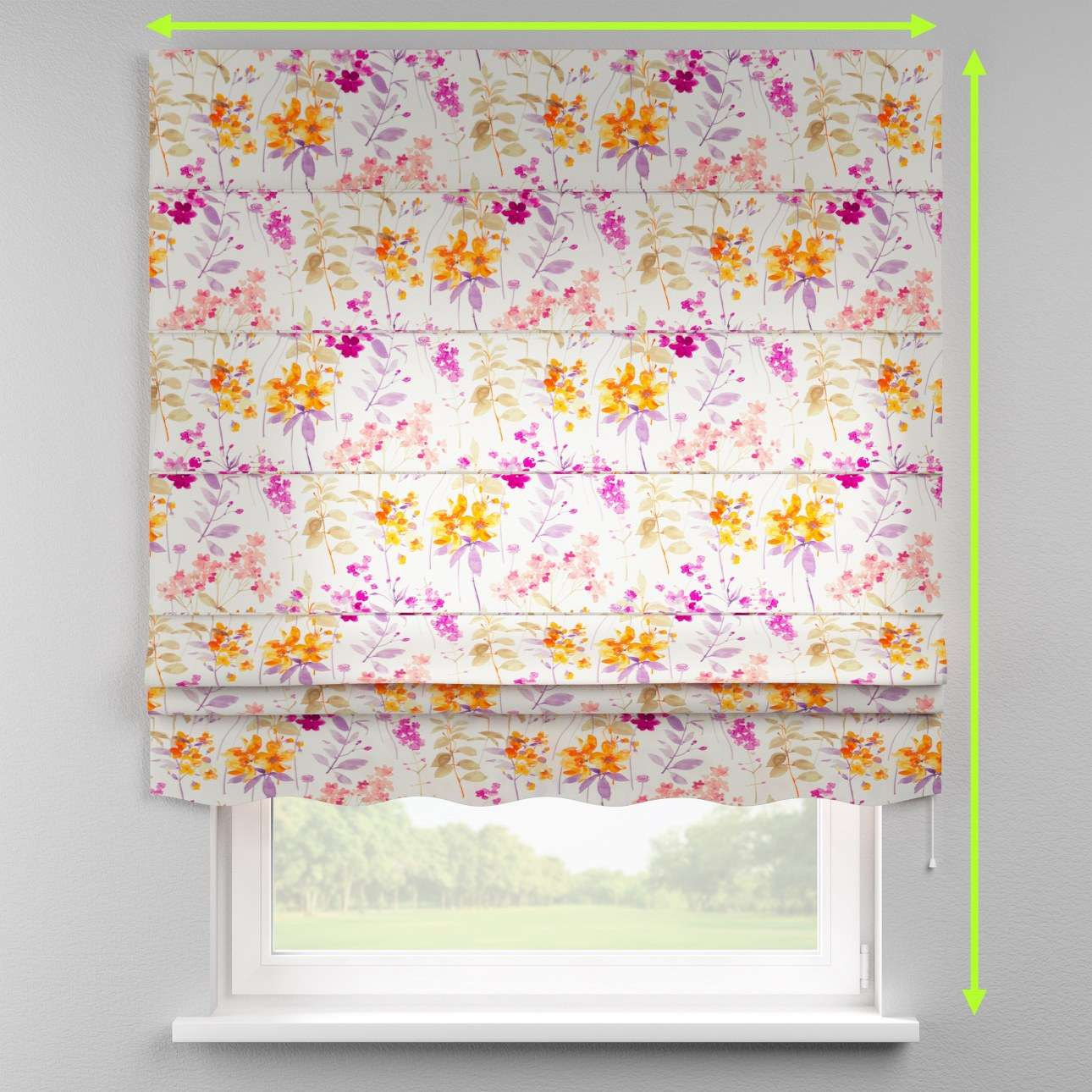 Florence roman blind  in collection Monet, fabric: 140-04