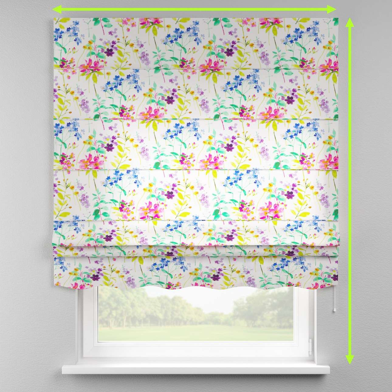 Florence roman blind  in collection Monet, fabric: 140-06
