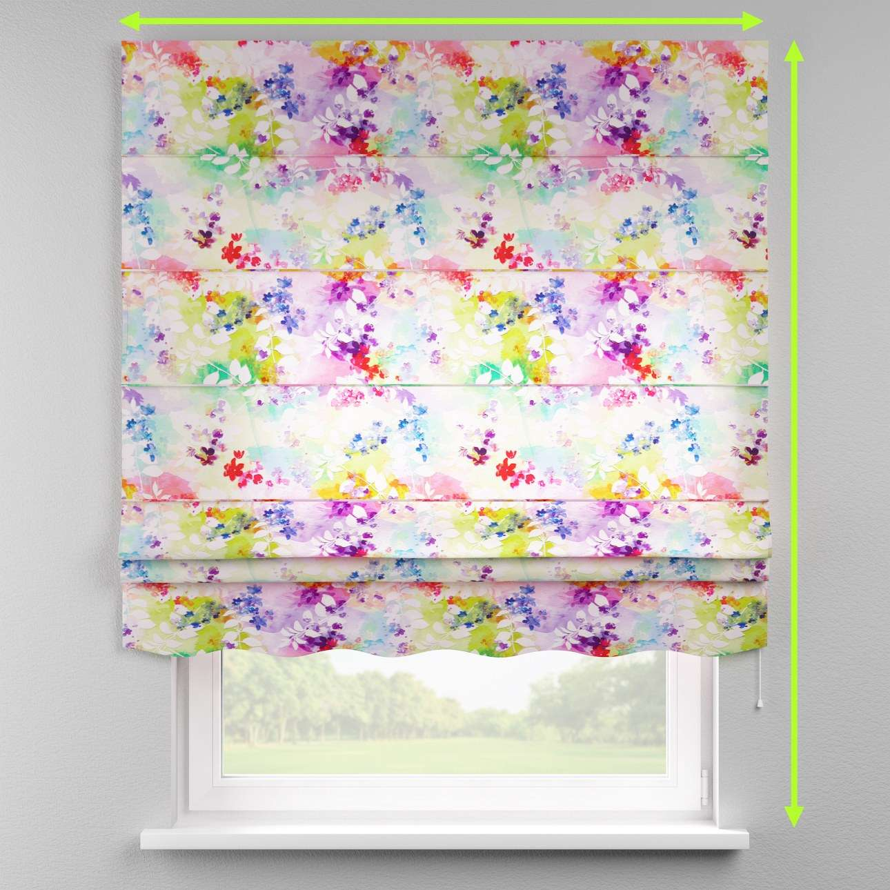 Florence roman blind  in collection Monet, fabric: 140-07