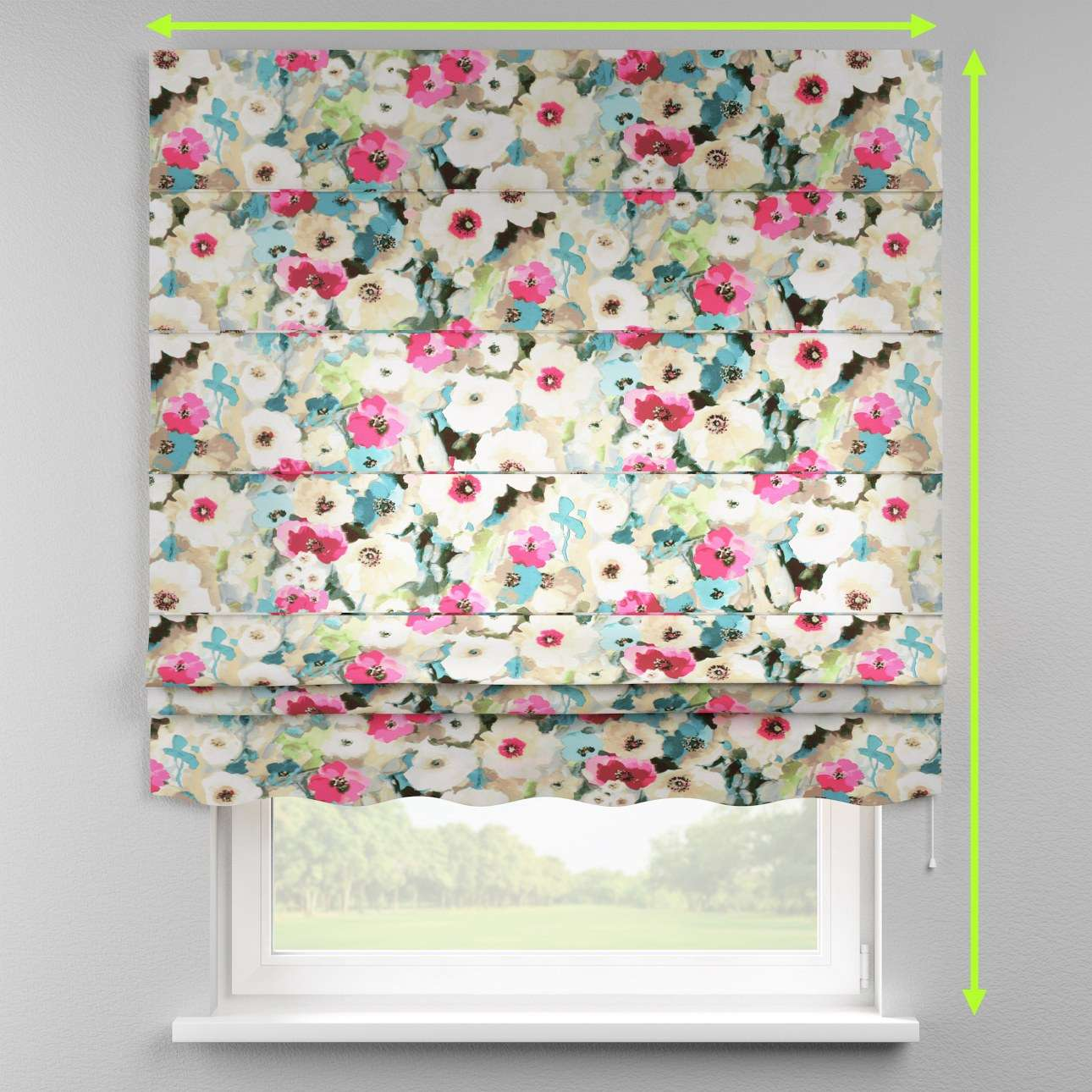 Florence roman blind  in collection Monet, fabric: 140-08