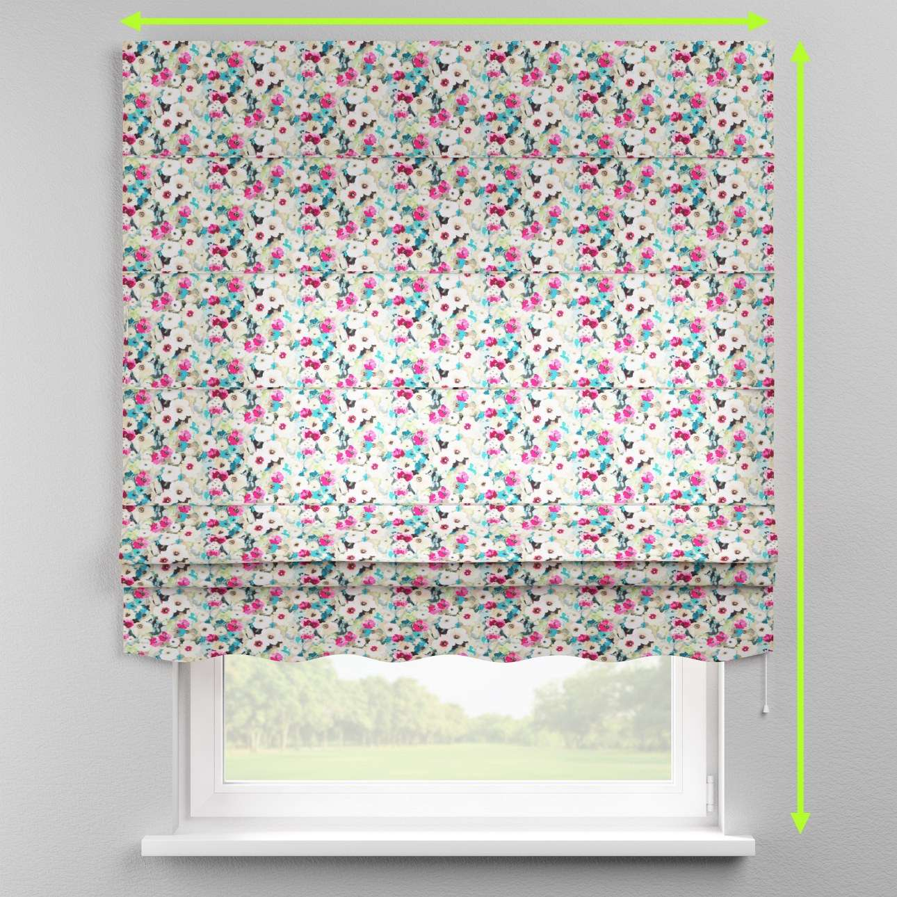 Florence roman blind  in collection Monet, fabric: 140-10