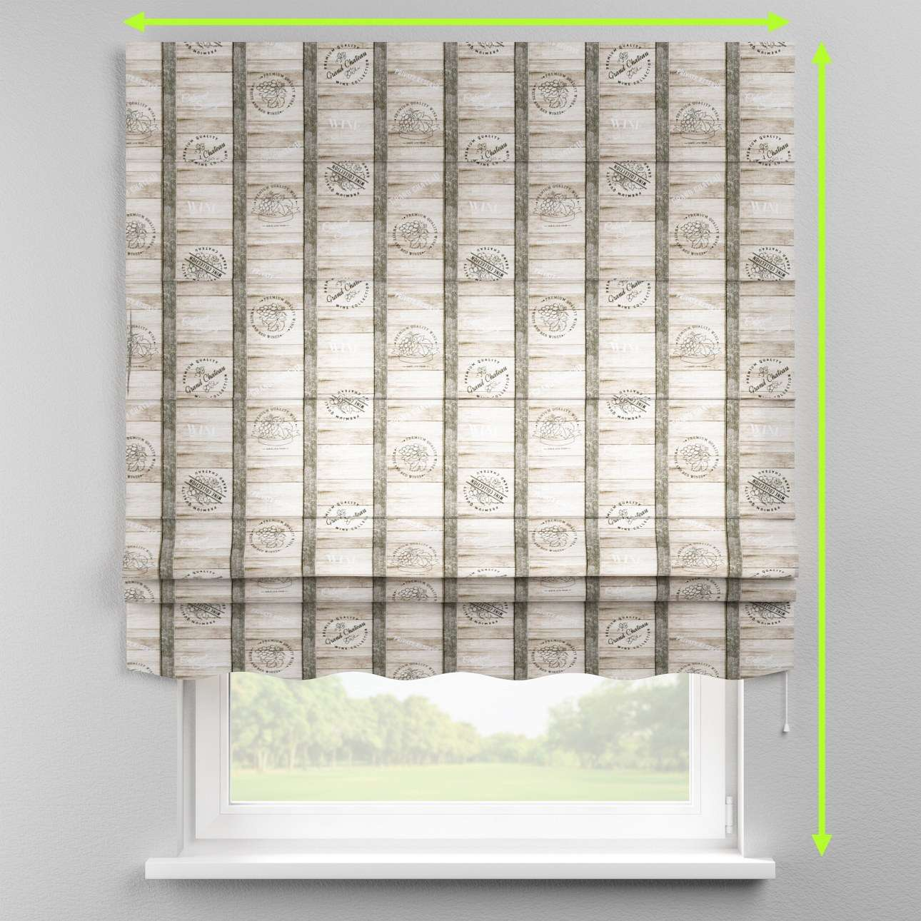 Florence roman blind  in collection Marina, fabric: 140-12