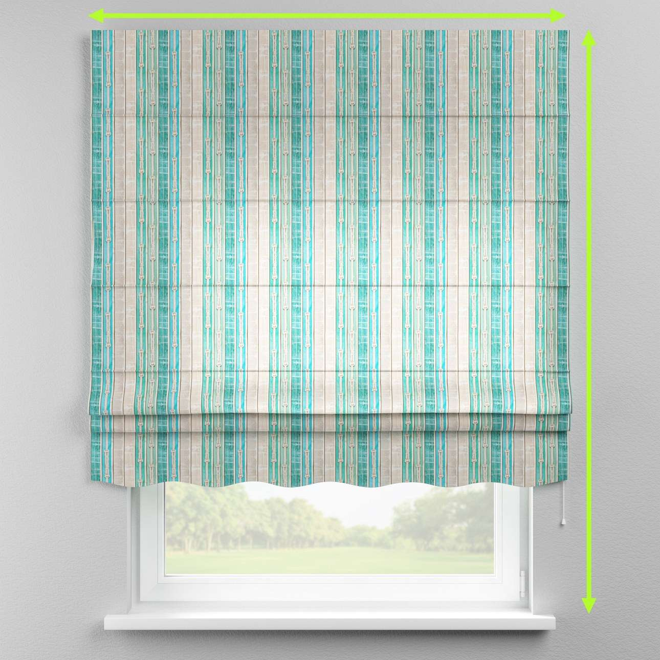 Florence roman blind  in collection Marina, fabric: 140-14
