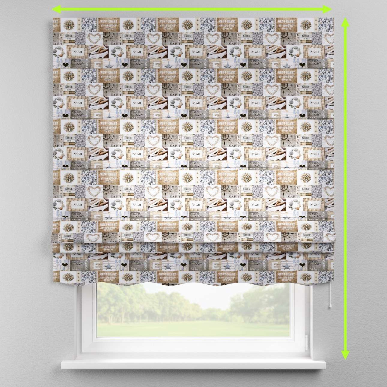 Florence roman blind  in collection Marina, fabric: 140-15