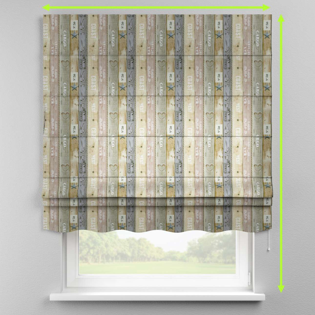 Florence roman blind  in collection Marina, fabric: 140-16