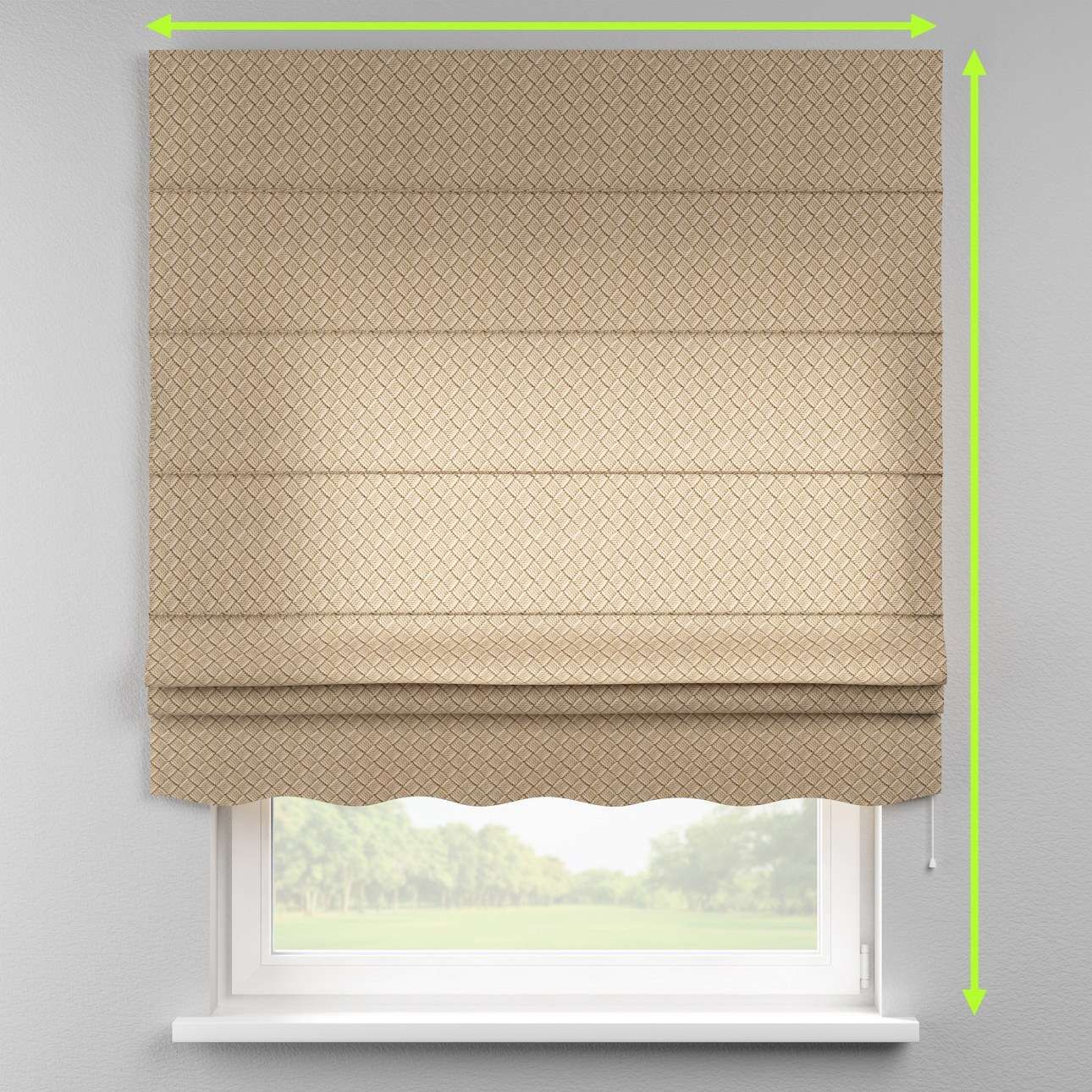 Florence roman blind  in collection Marina, fabric: 140-17