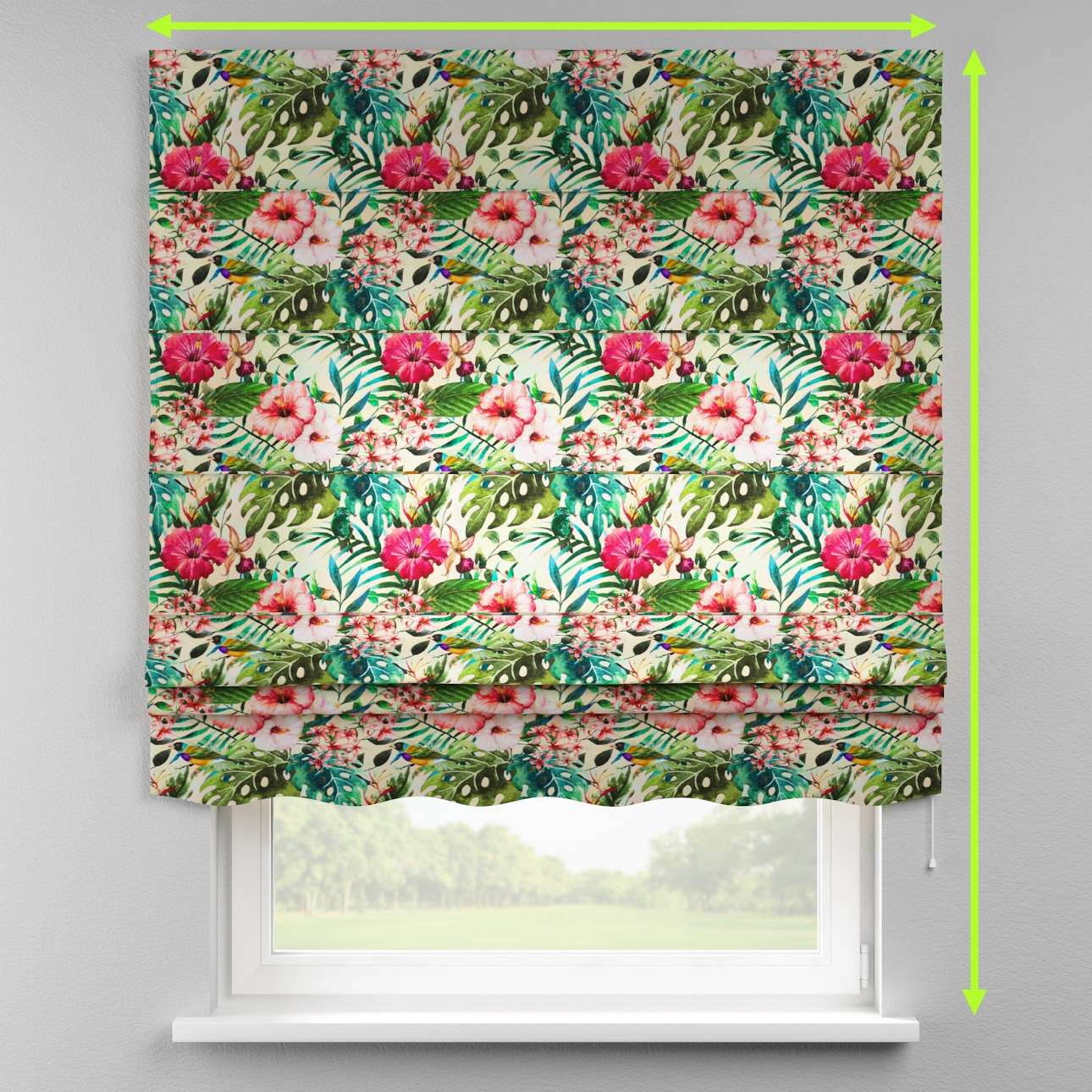 Florence roman blind  in collection New Art, fabric: 140-21