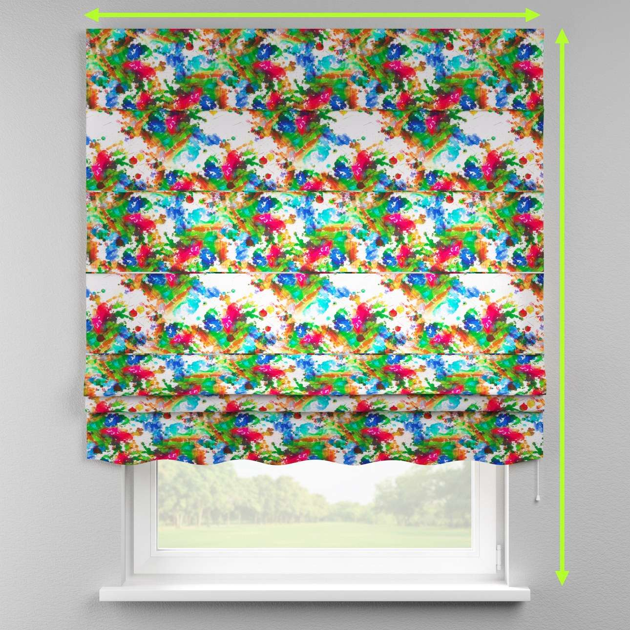 Florence roman blind  in collection New Art, fabric: 140-23