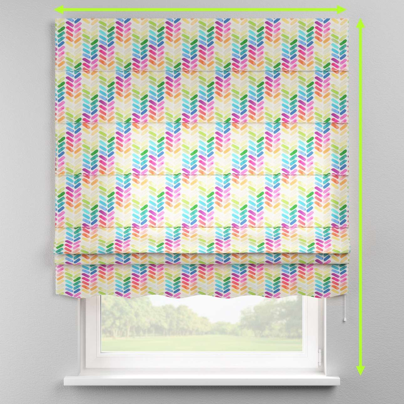 Florence roman blind  in collection New Art, fabric: 140-25