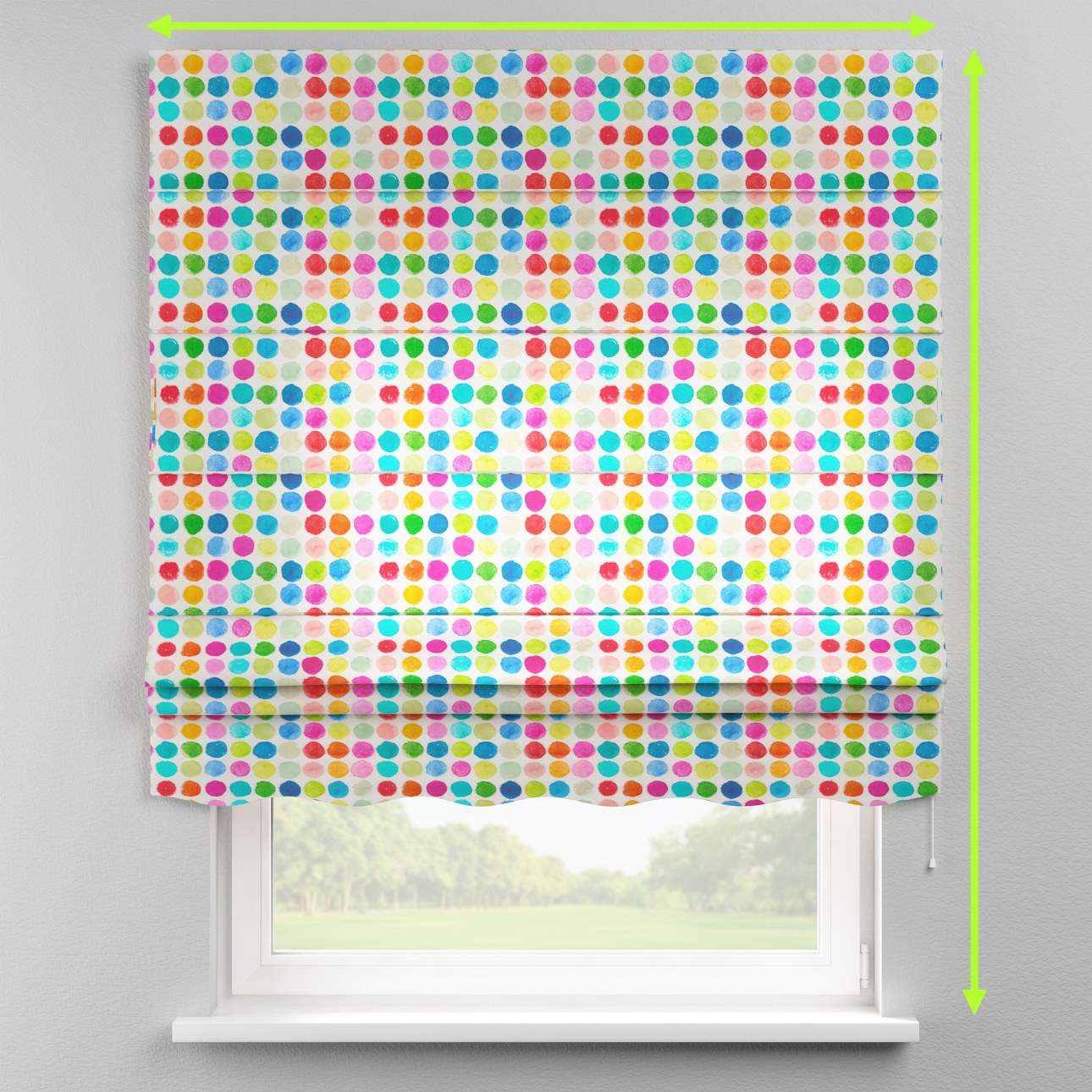 Florence roman blind  in collection New Art, fabric: 140-26