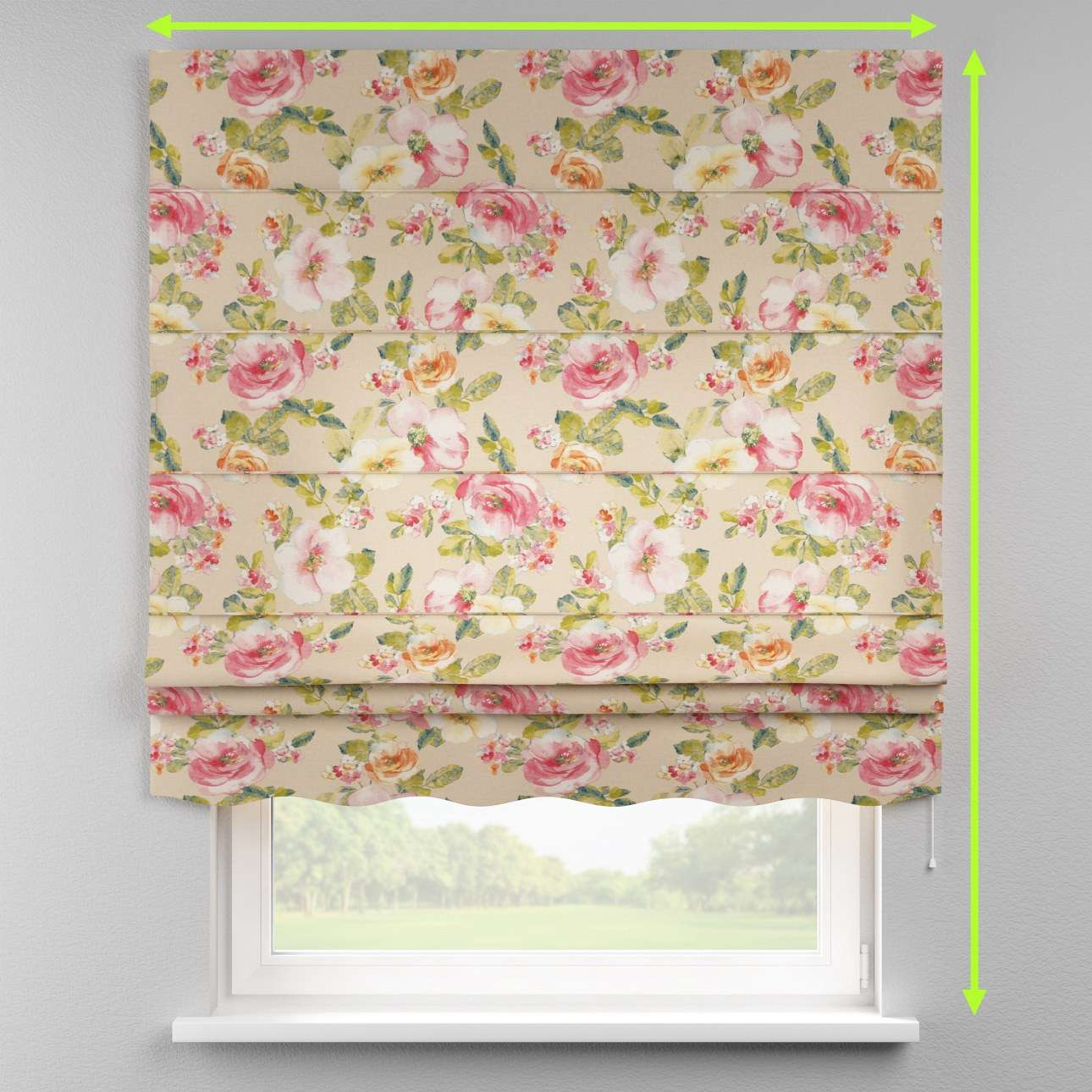 Florence roman blind  in collection Londres, fabric: 140-43
