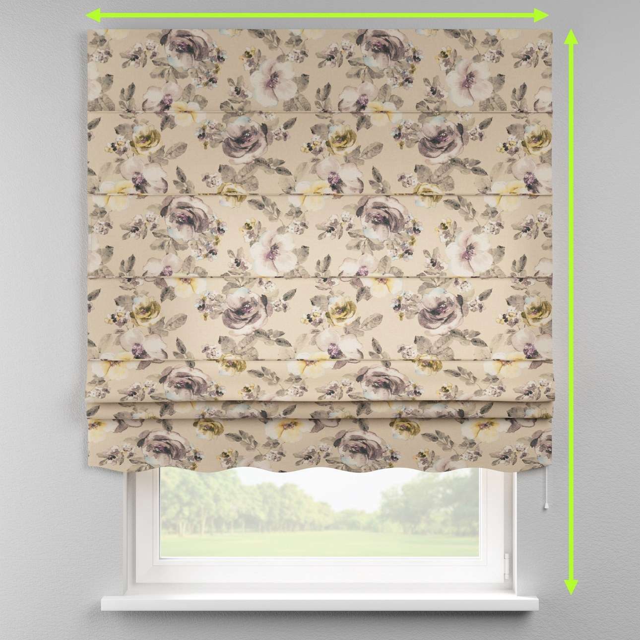 Florence roman blind  in collection Londres, fabric: 140-44