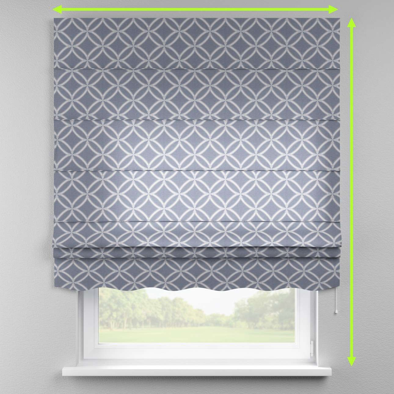 Florence roman blind  in collection Venice, fabric: 140-53