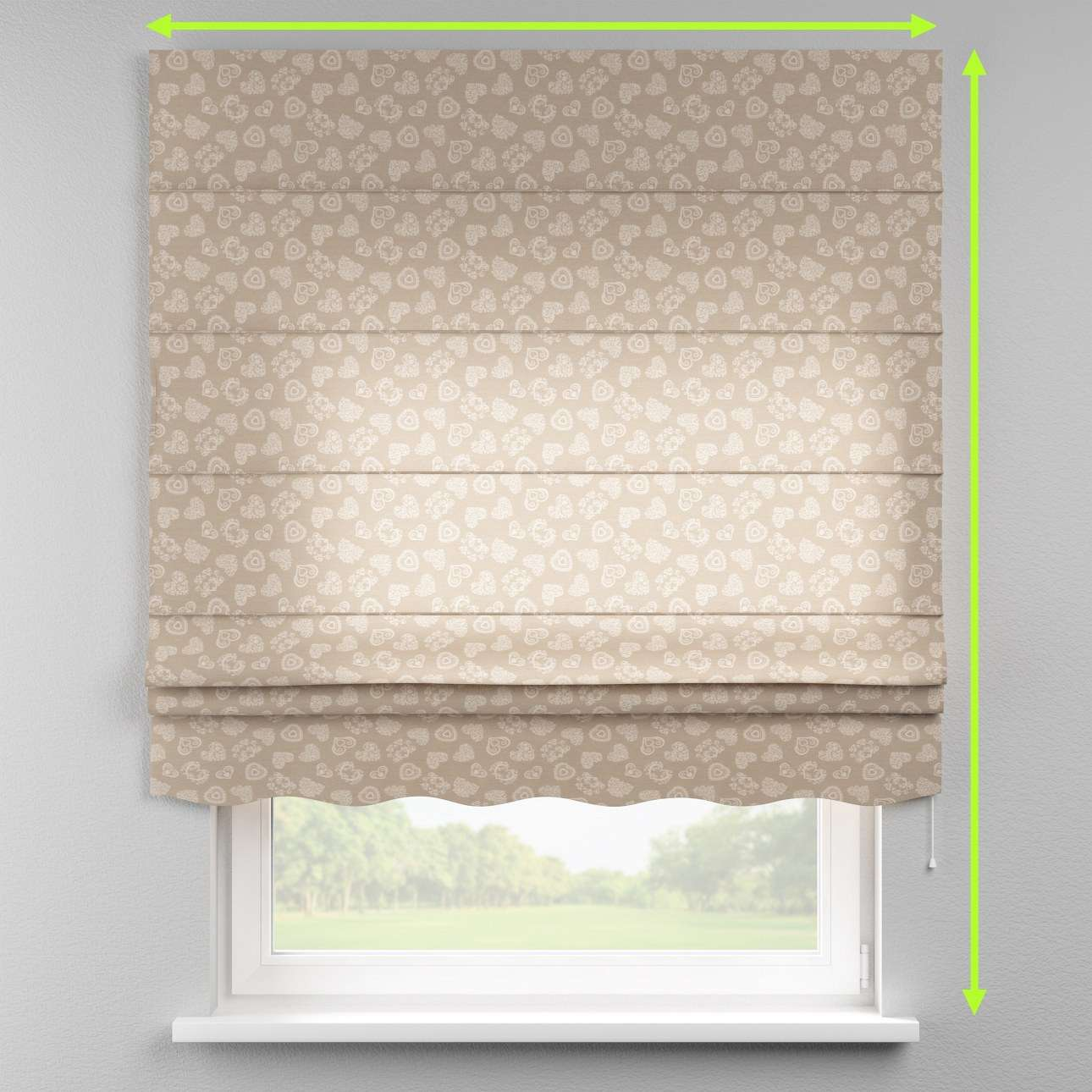 Florence roman blind  in collection Flowers, fabric: 140-56