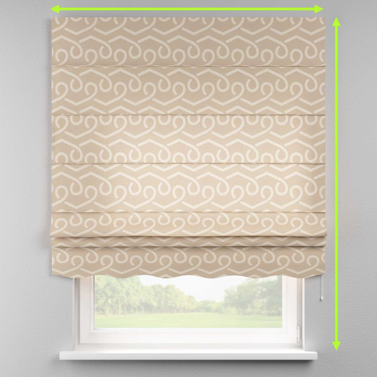 Florence roman blind  in collection Rustica, fabric: 140-58