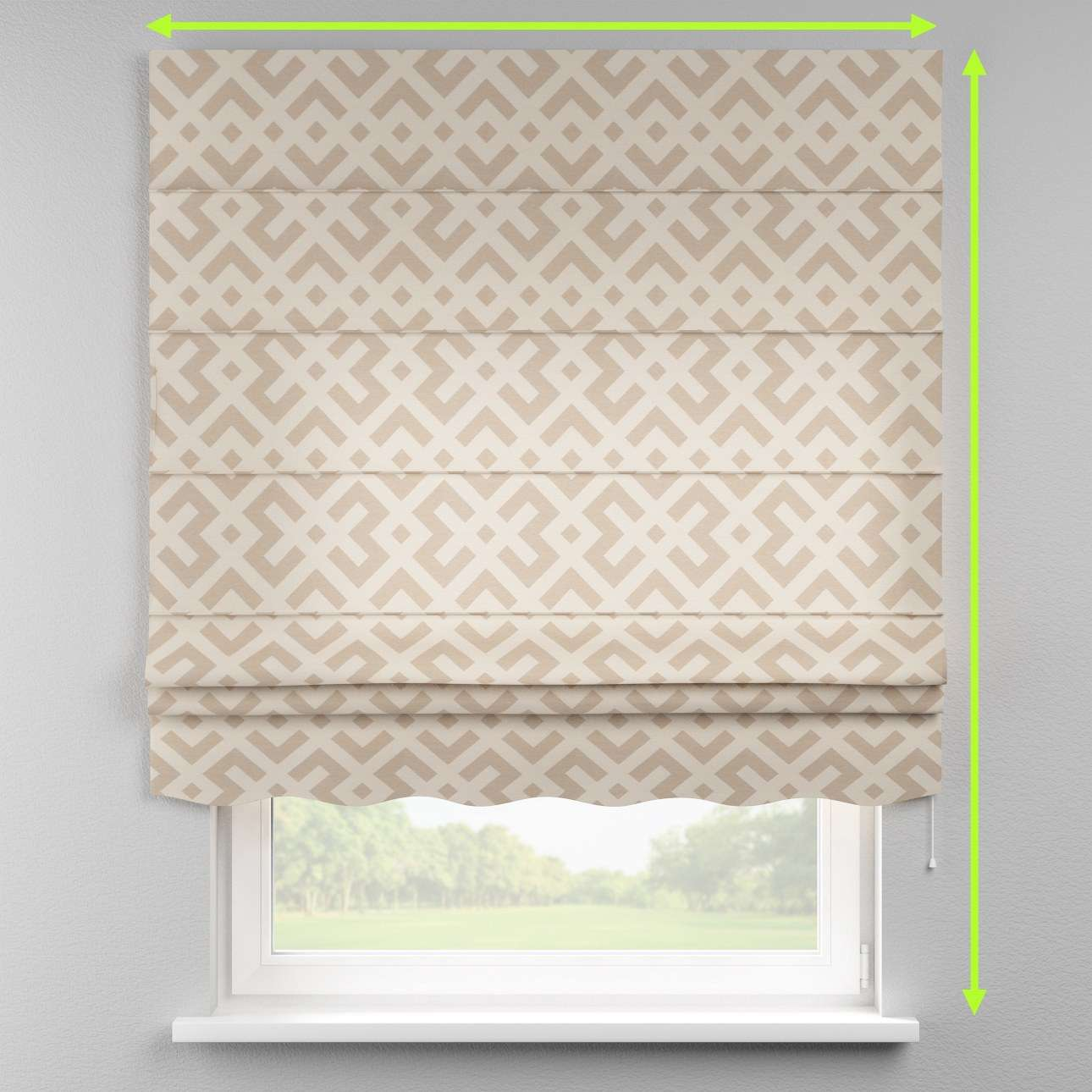 Florence roman blind  in collection Rustica, fabric: 140-59