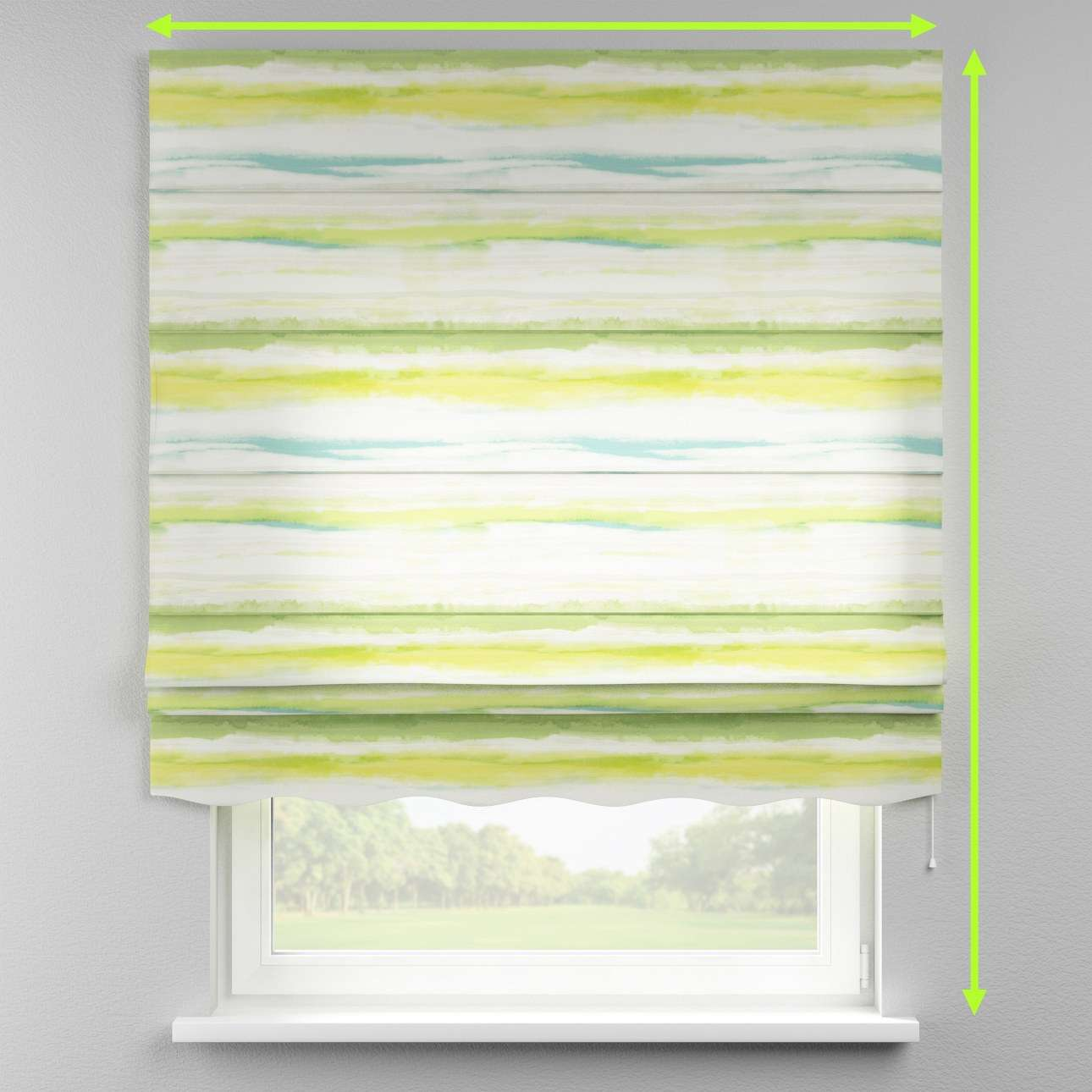 Florence roman blind  in collection Aquarelle, fabric: 140-68