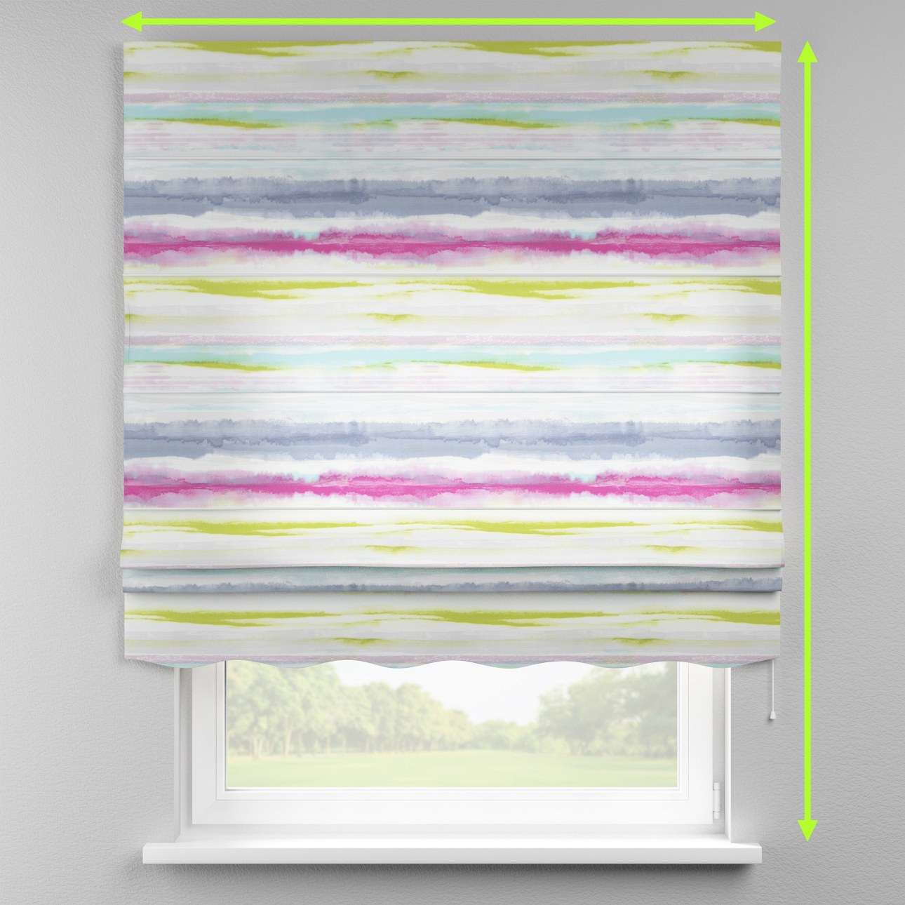 Florence roman blind  in collection Aquarelle, fabric: 140-69