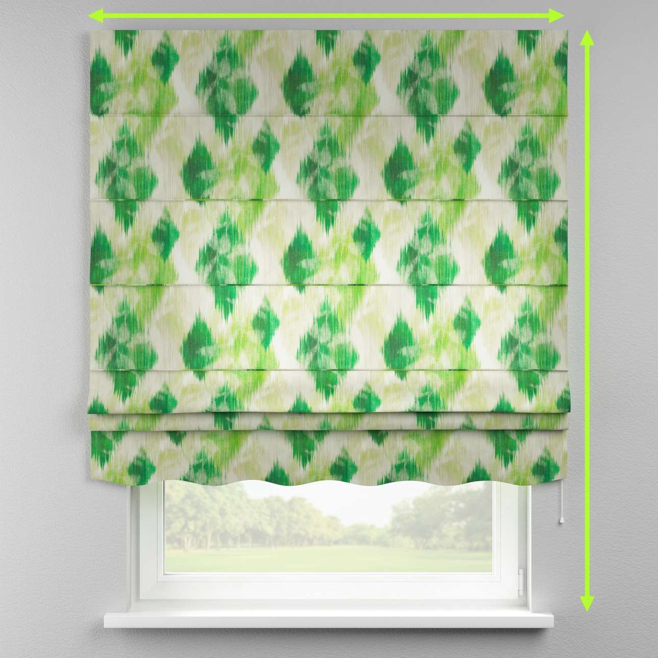 Florence roman blind  in collection Aquarelle, fabric: 140-70