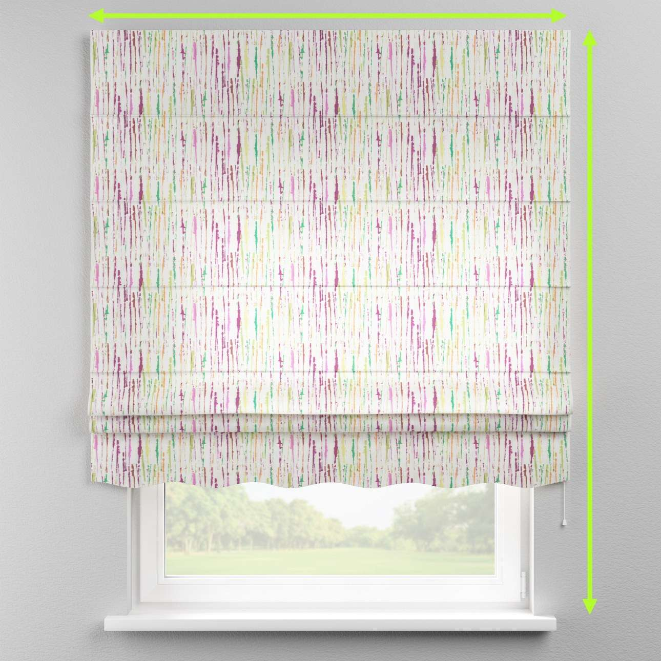 Florence roman blind  in collection Aquarelle, fabric: 140-72