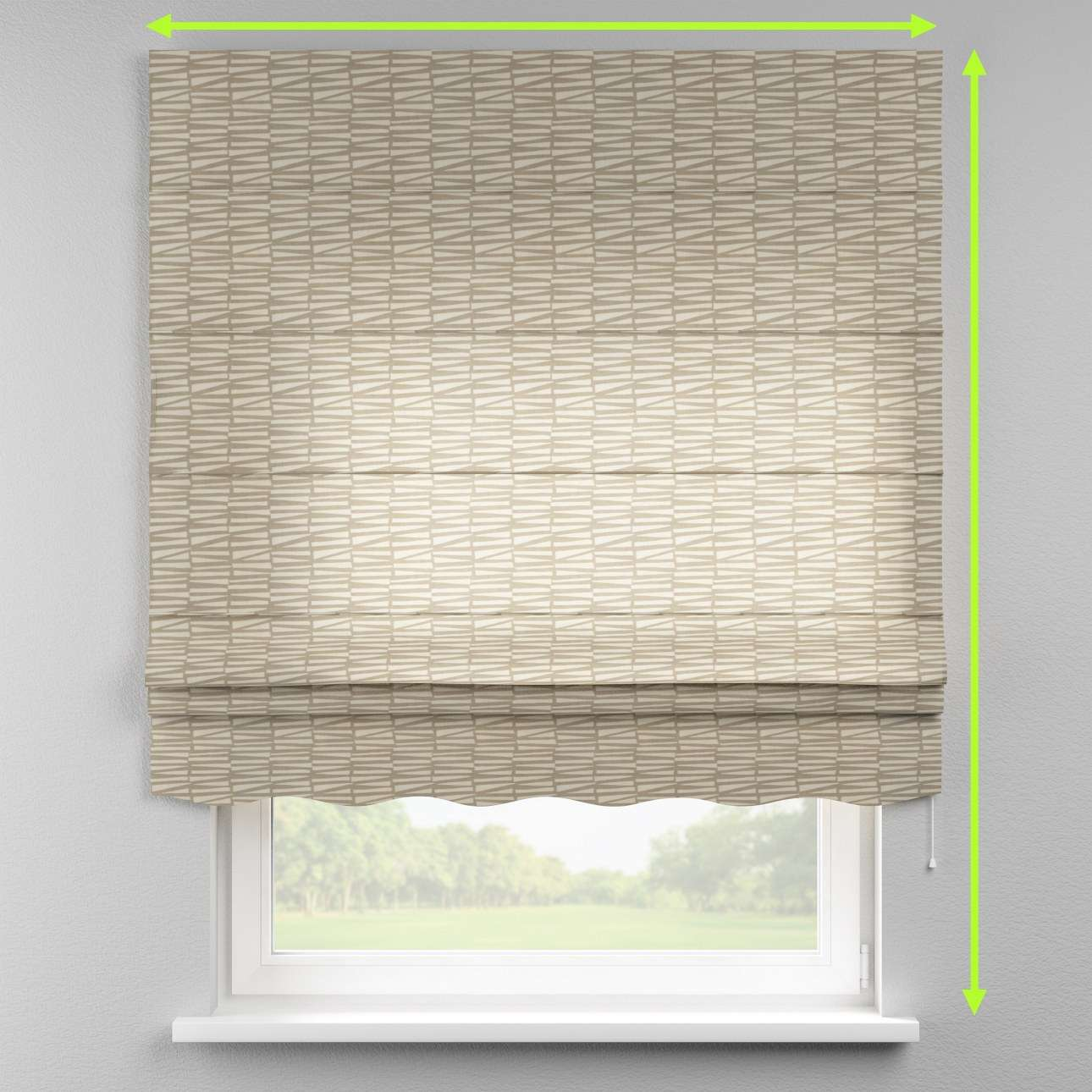 Florence roman blind  in collection Norge, fabric: 140-84