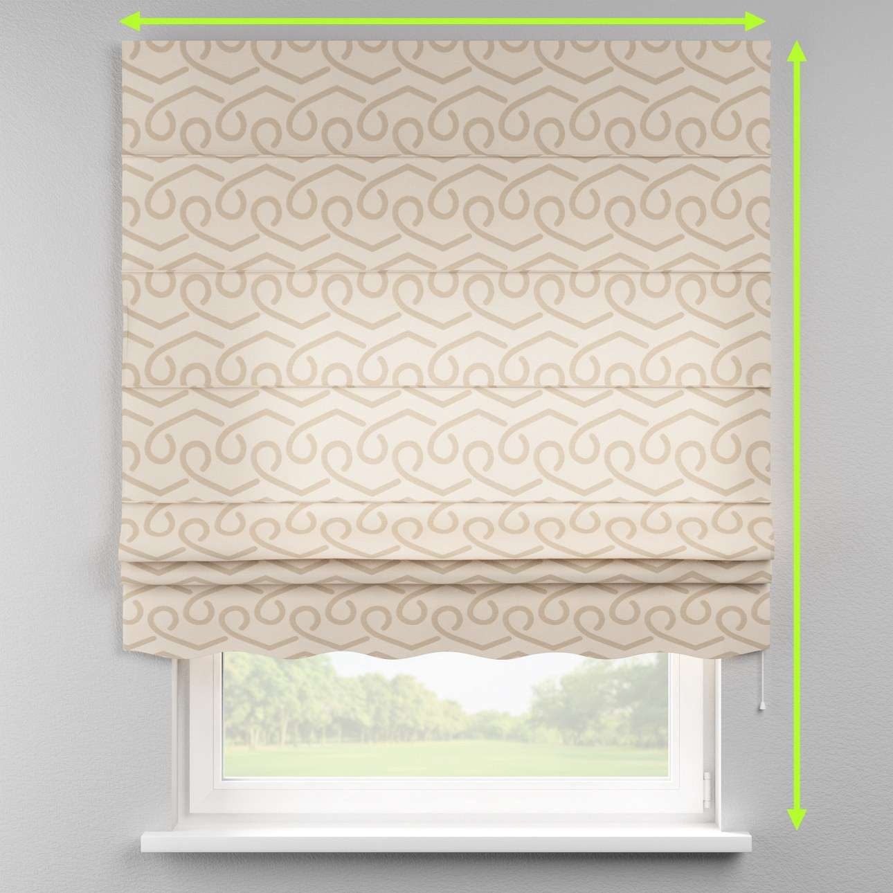 Florence roman blind  in collection Rustica, fabric: 140-85