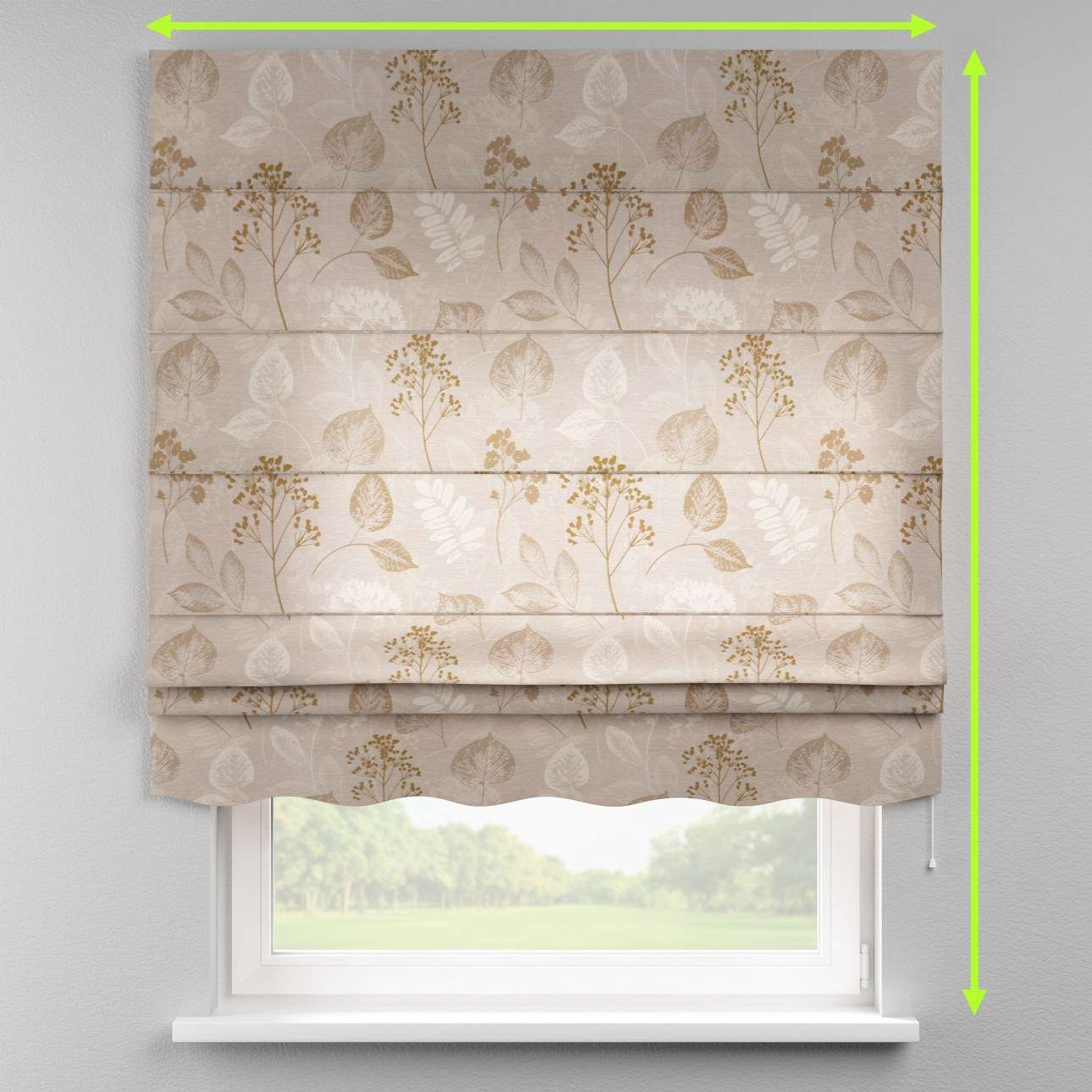 Florence roman blind  in collection Norge, fabric: 140-87