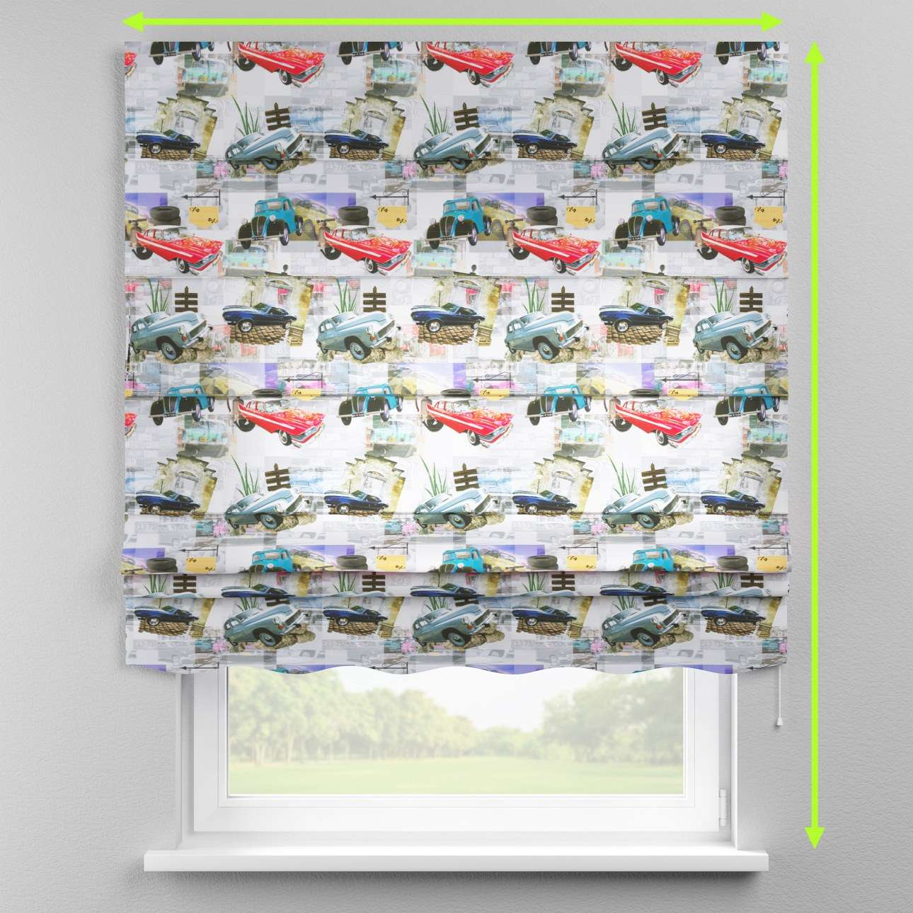 Florence roman blind  in collection Freestyle, fabric: 140-91