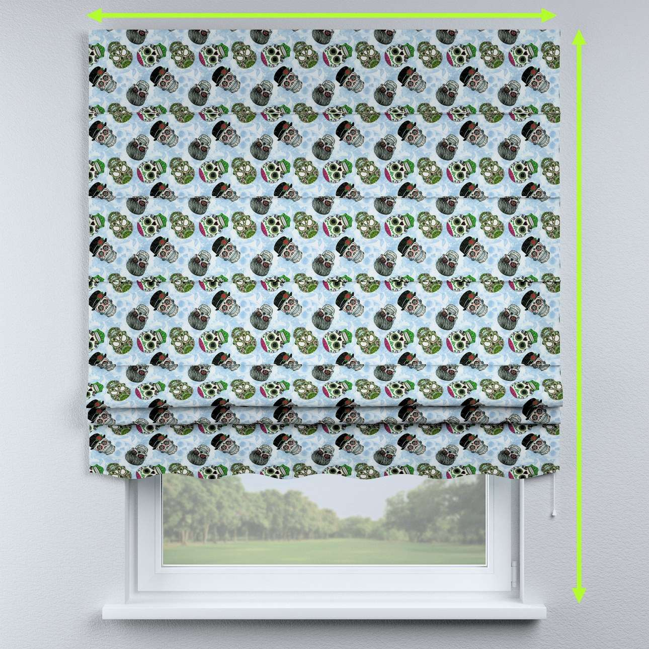Florence roman blind  in collection Freestyle, fabric: 141-01