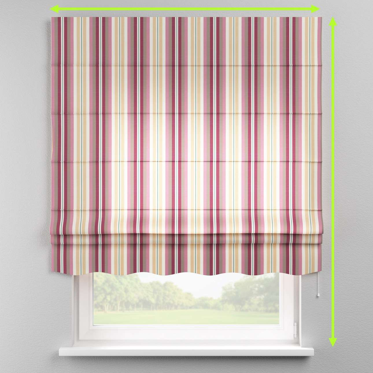 Florence roman blind  in collection Mirella, fabric: 141-14