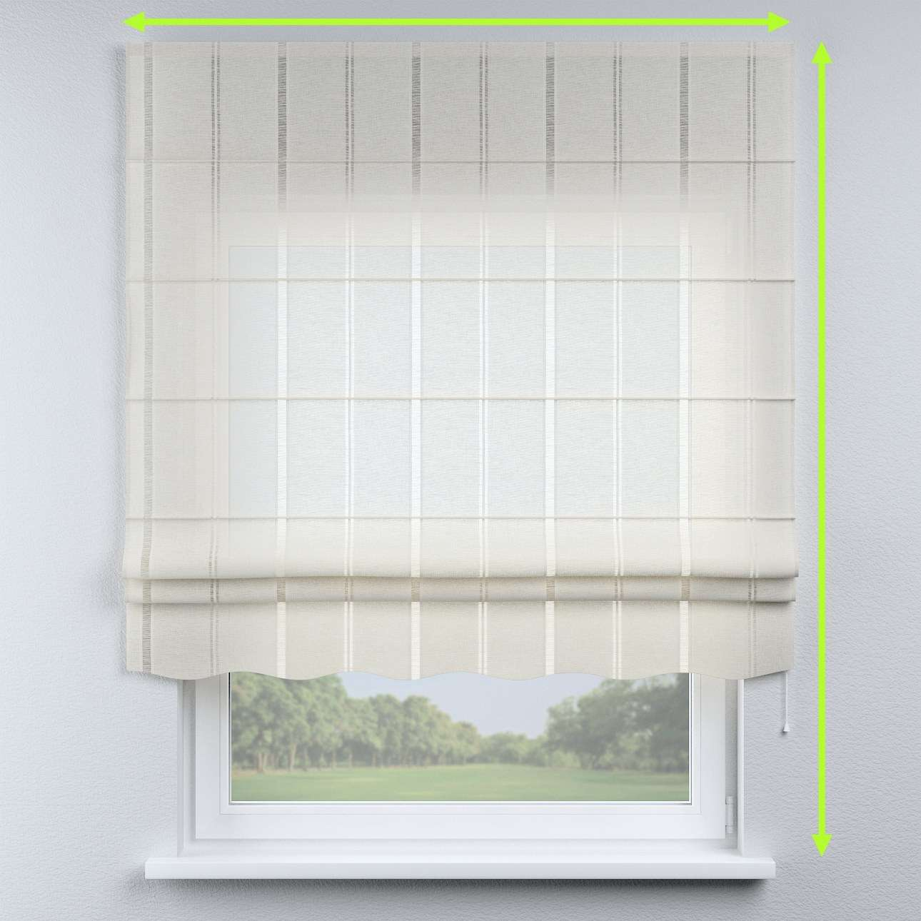 Florence roman blind  in collection Romantica, fabric: 141-30