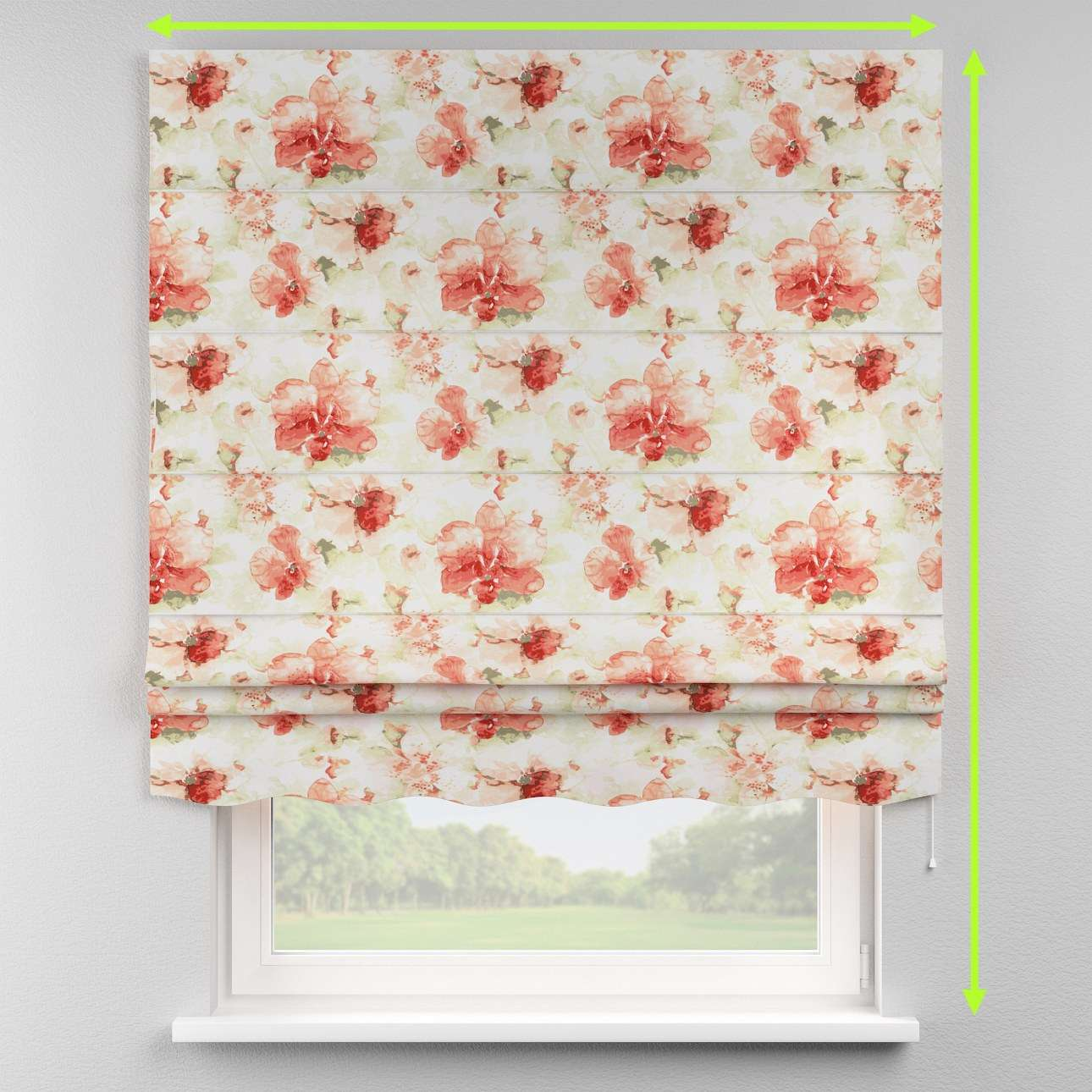 Florence roman blind  in collection Acapulco, fabric: 141-34