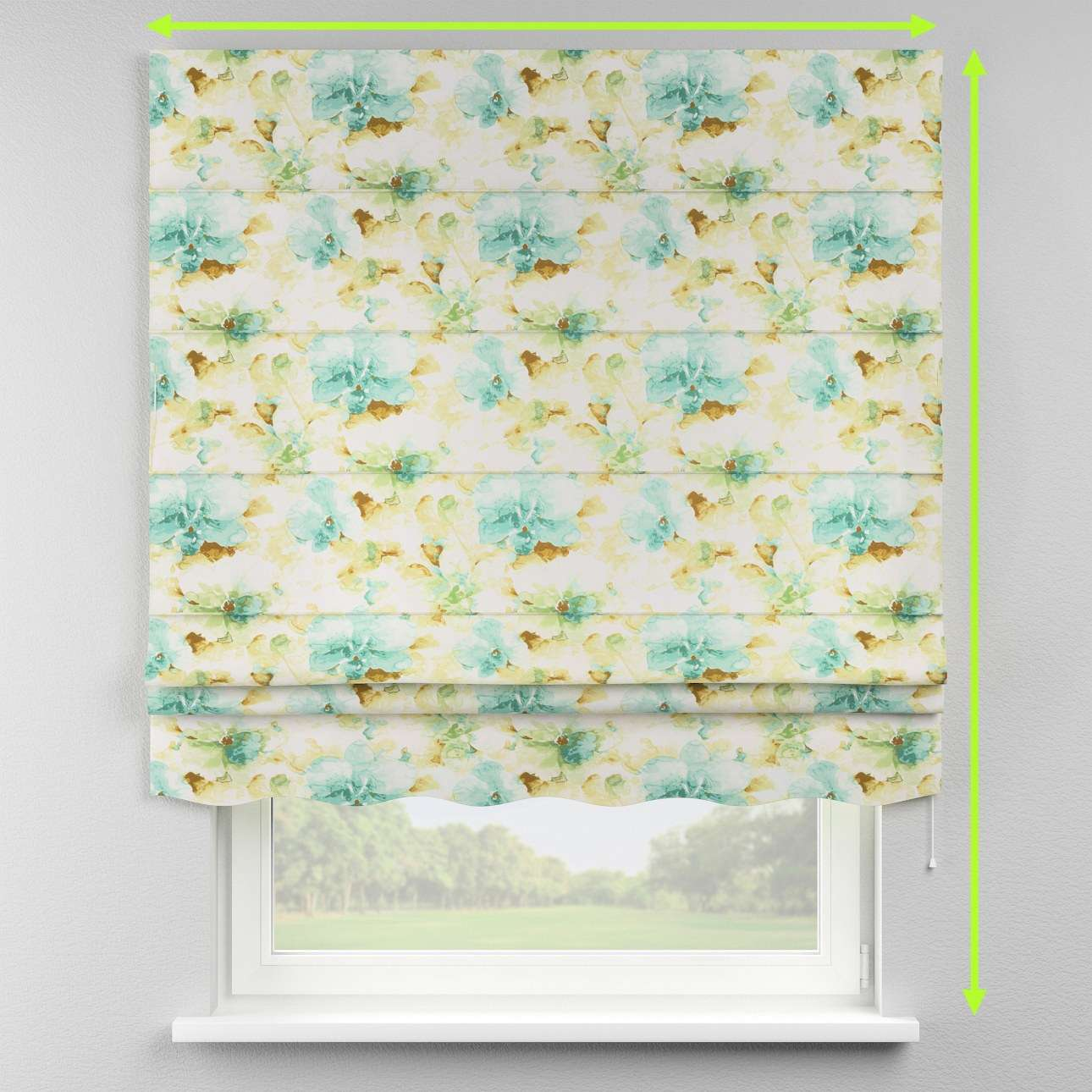 Florence roman blind  in collection Acapulco, fabric: 141-35