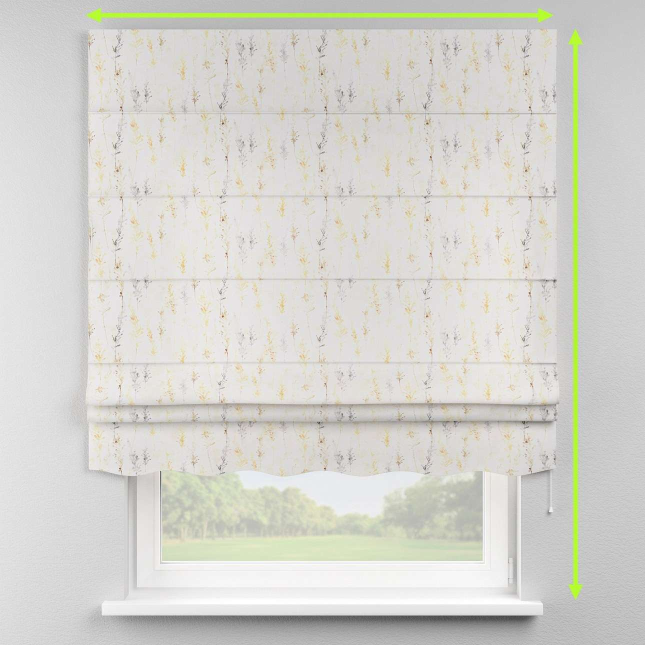 Florence roman blind  in collection Acapulco, fabric: 141-36
