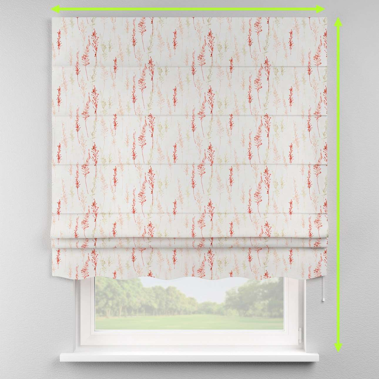 Florence roman blind  in collection Acapulco, fabric: 141-37