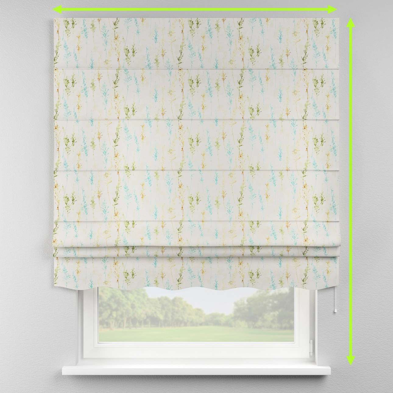 Florence roman blind  in collection Acapulco, fabric: 141-38