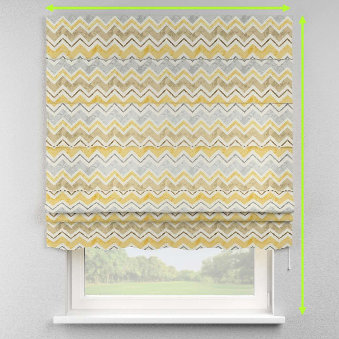 Florence roman blind  in collection Acapulco, fabric: 141-39