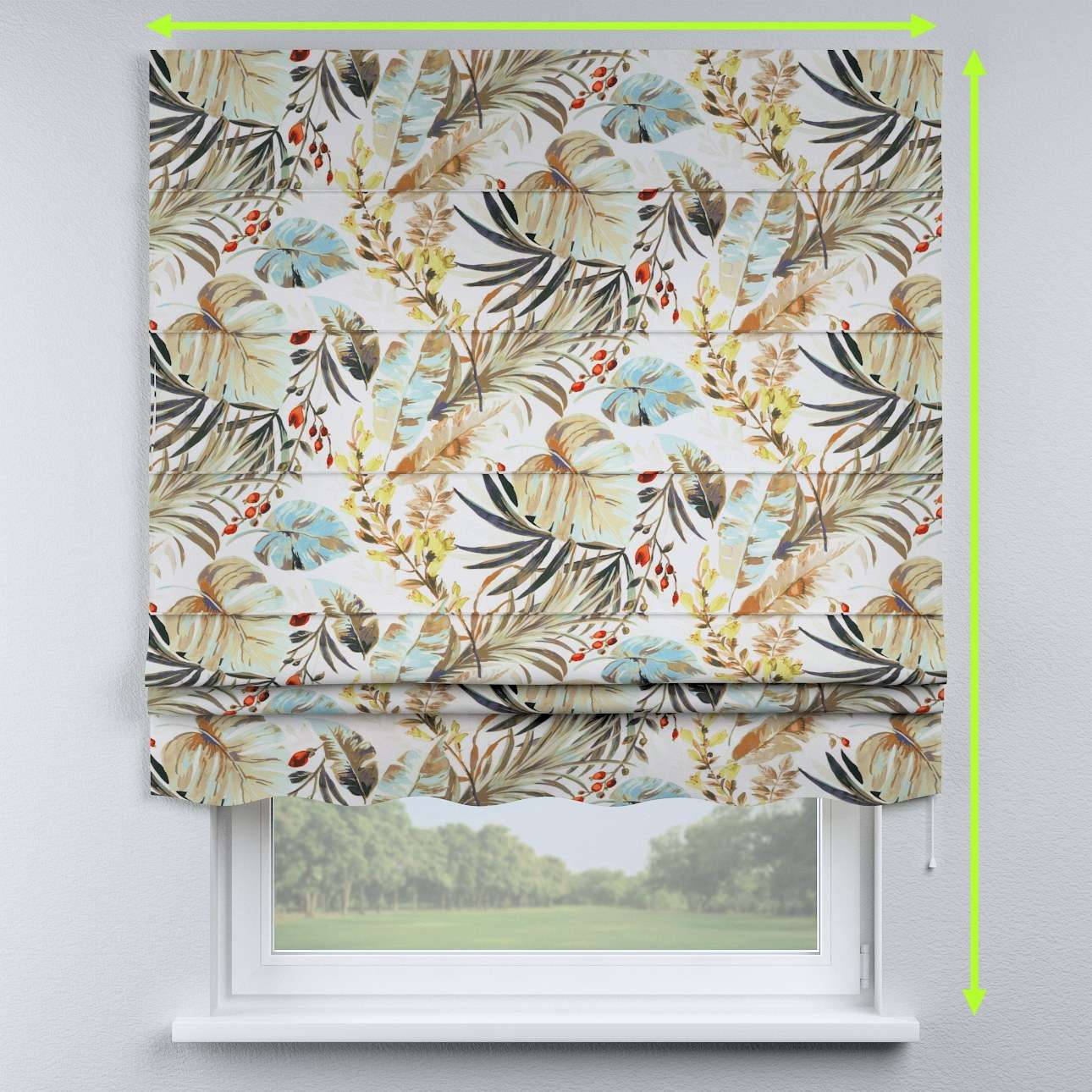 Florence roman blind  in collection Urban Jungle, fabric: 141-42