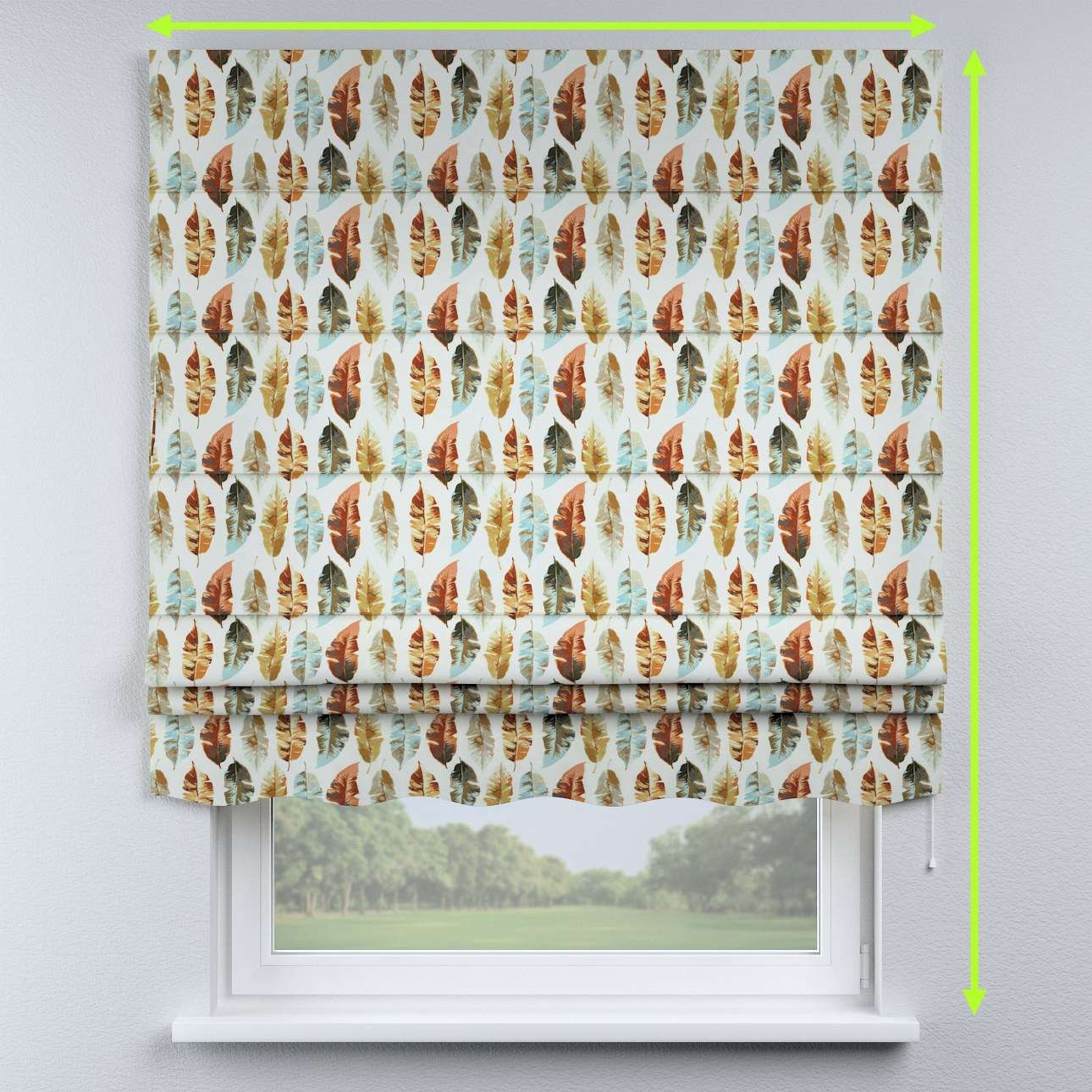Florence roman blind  in collection Urban Jungle, fabric: 141-43