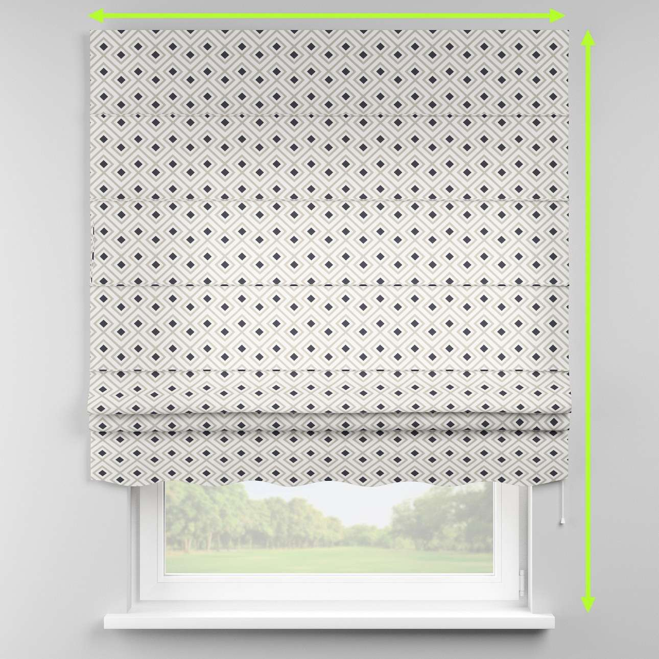 Florence roman blind  in collection Geometric, fabric: 141-44