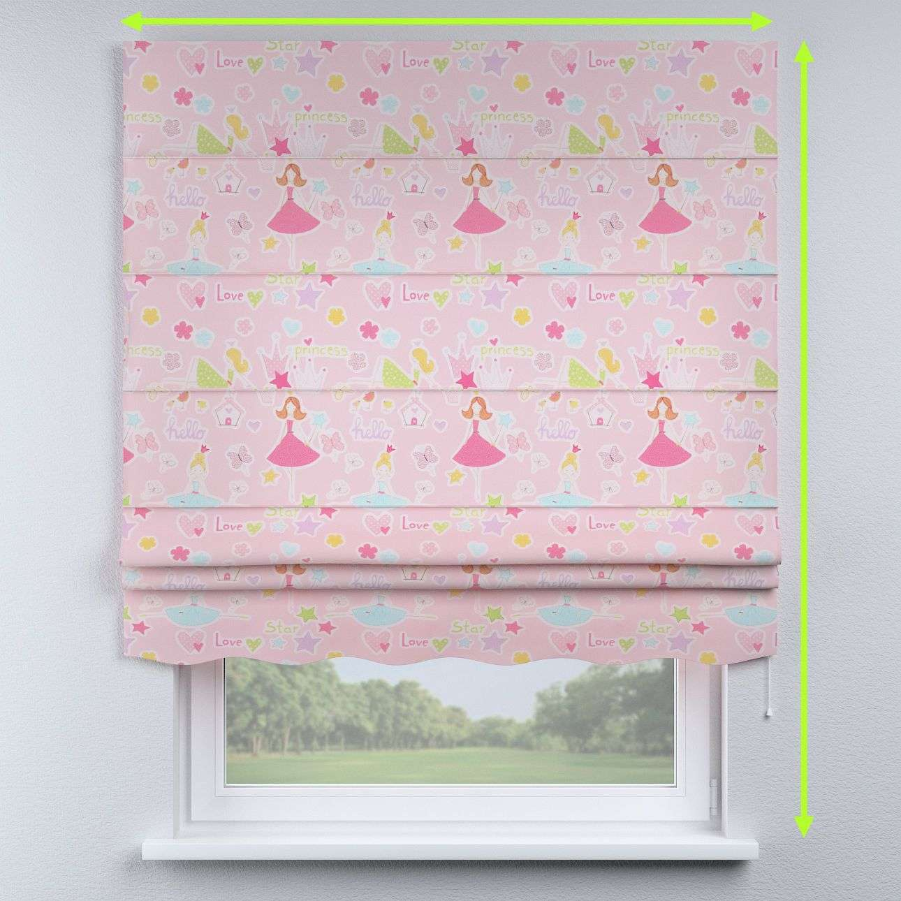 Florence roman blind  in collection Little World, fabric: 141-50
