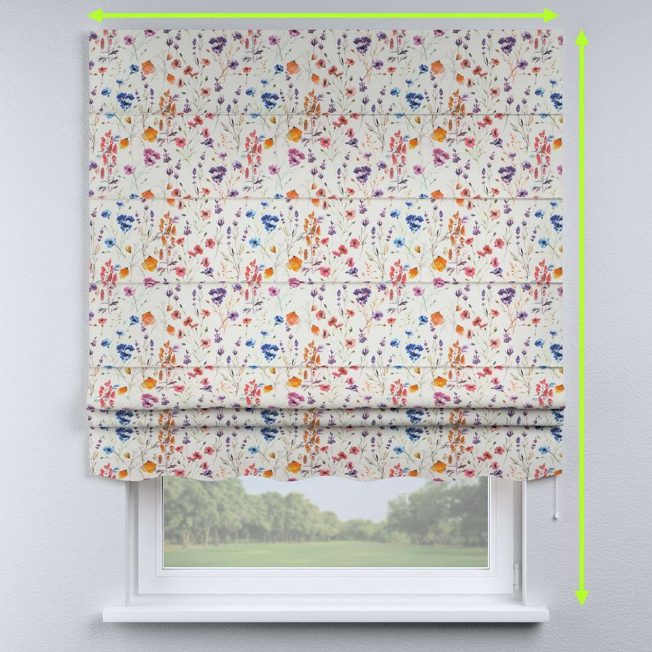 Florence roman blind  in collection Flowers, fabric: 141-53