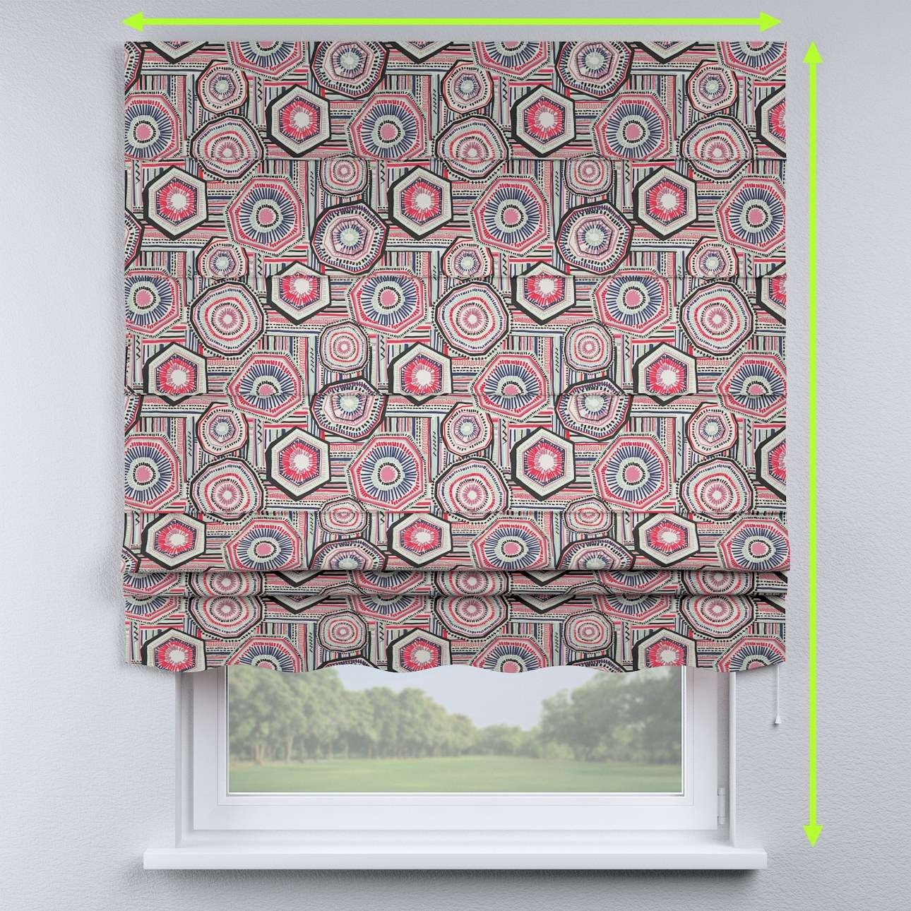 Florence roman blind  in collection New Art, fabric: 141-54