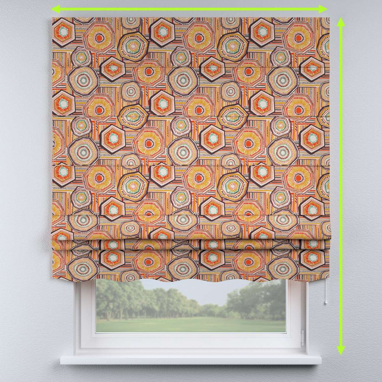 Florence roman blind  in collection New Art, fabric: 141-55
