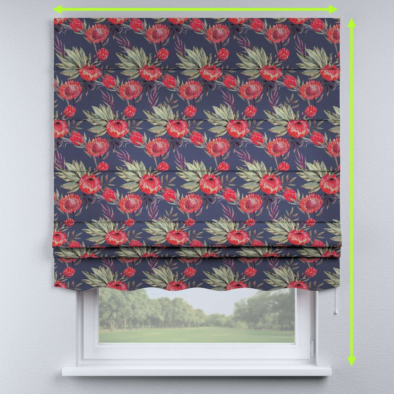 Florence roman blind  in collection New Art, fabric: 141-57